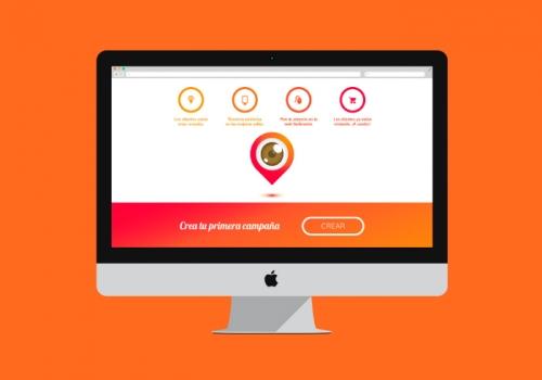 Diseño web para vender anuncios en escaparates