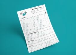 Diseño carta restaurante de Pintxos