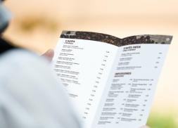 Diseño de carta cafetería ecológica