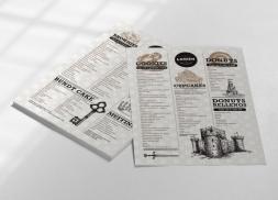 Diseño de carta para pastisseria creativa