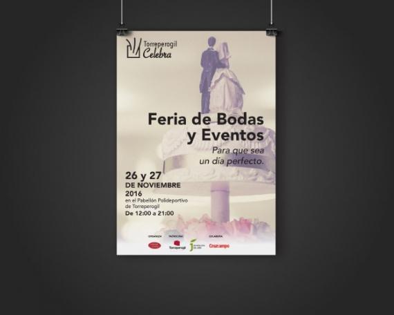 Diseño de cartel de feria de celebraciones y eventos