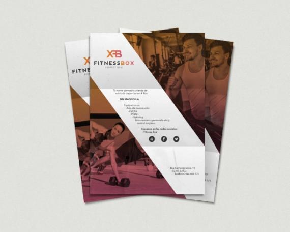 Diseño de flyer para gimnasio