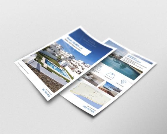 Diseño flyer comercialización promoción inmobiliaria