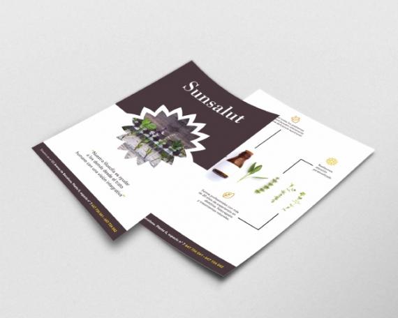 Diseño de flyer suplementos nutricionales