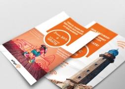 Diseño flyer para servicios de internet