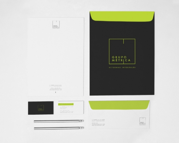 Diseño de marca y papelería servicios de reforma integral