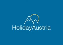 Diseño de logotipo alquiler casa montaña Austria