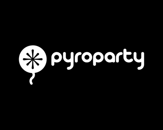 Diseño de logotipo para tienda de pirotecnia y artículos de fiesta