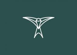 Diseño logotipo golondrina farmacia