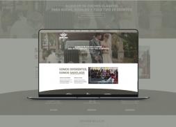 Diseño web para empresa de alquiler de coches clásicos