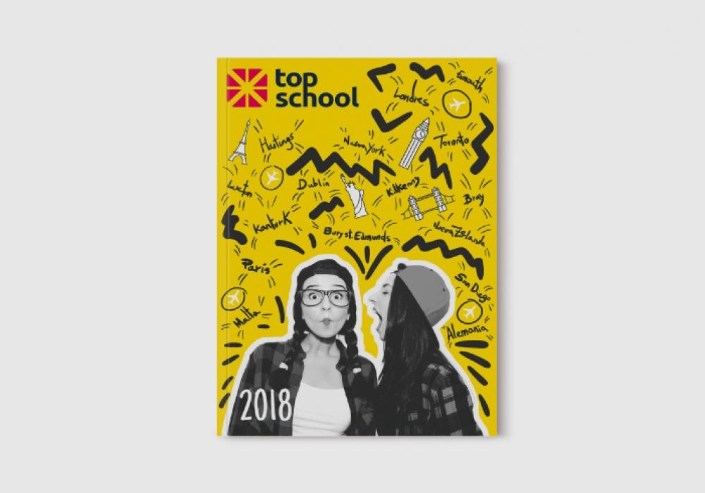 Diseño de revista agencia de cursos en el extranjero