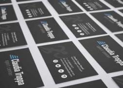 Diseño de tarjetas corporativas para club deportivo