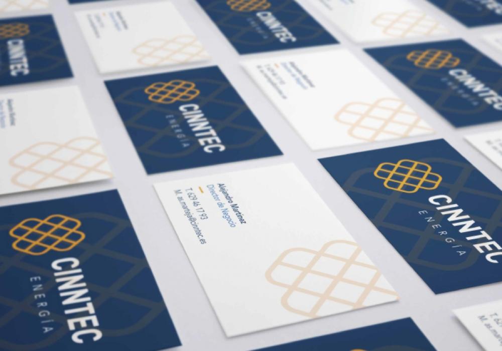Diseño tarjetas consultoría tecnología energía