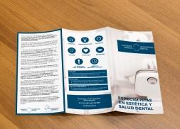 Diseño de tríptico para Instituto Quirúrgico Dental