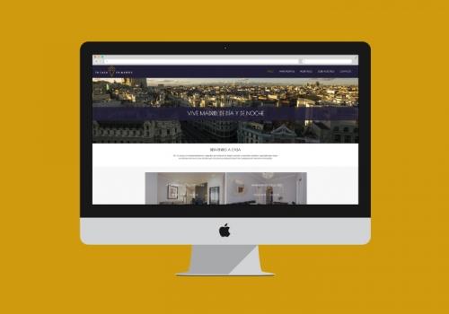 Diseño web alquiler apartamentos turísticos Madrid