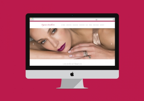 Diseño web para una marca de alta joyería