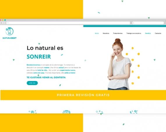 Diseño web original clínica dental