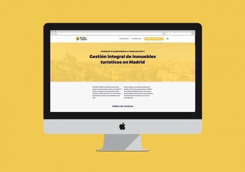 Diseño web gestión inmuebles turísticos Madrid