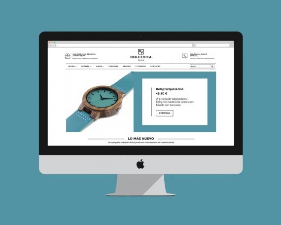Diseño tienda online de gafas de sol, relojes y carteras