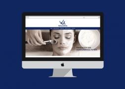 Diseño de landing web tienda de cosmética