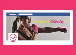 Diseño redes sociales gimnasio de kickboxing para mujeres
