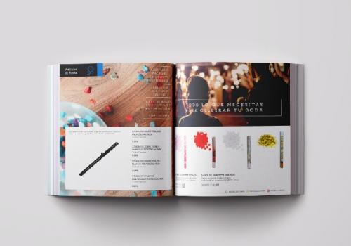 Diseño catálogo pirotecnia y artículos de fiesta