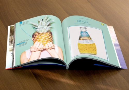 Diseño catálogo bebidas
