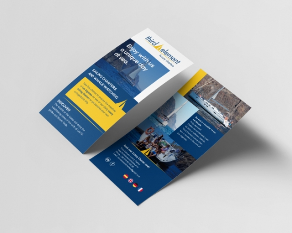 Diseño de flyer para empresa de excursiones en barco
