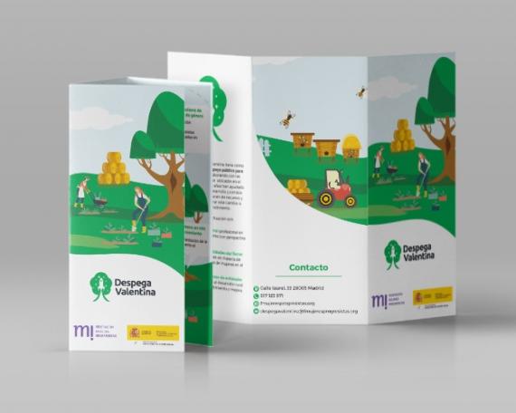 Flyer para programa de apoyo público