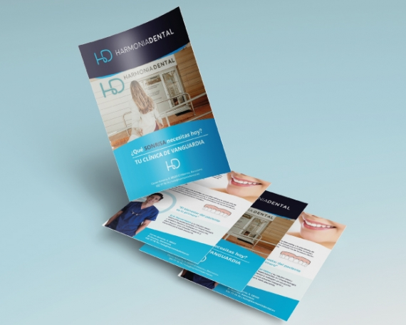 Flyer para empresa de salud dental