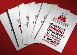 Diseño de flyers para franquicia financiera