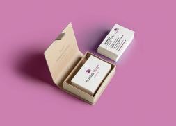 Diseño de tarjetas de visita para psicóloga
