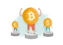 Ilustraciones para una web de intercambio de Bitcoin