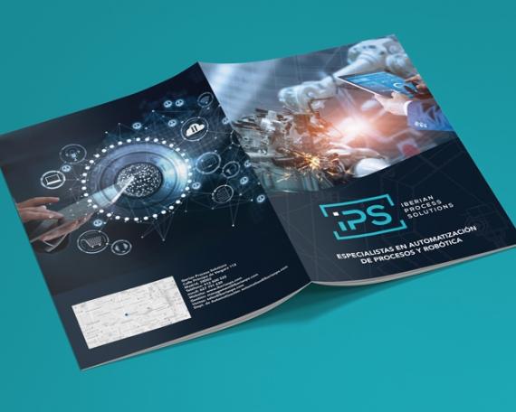 Diseño de dossier para empresa especialista en automatización y procesos de robótica