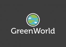 Logotipo de instalación y mantenimiento de edificios verdes