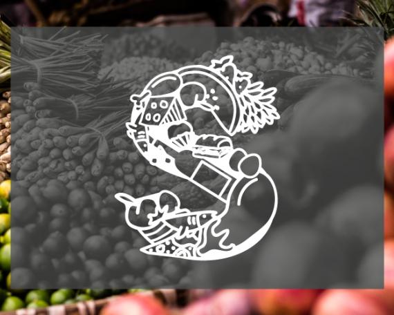 Diseño logo ilustrado para un supermercado