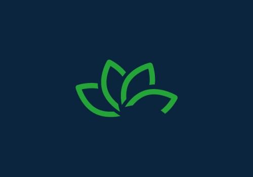 Logotipo de cosmética natural ecológica