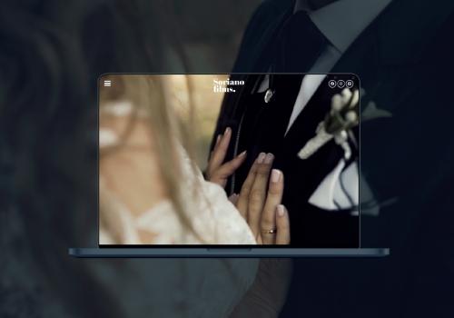 Diseño de página web para estudio de fotografía para bodas