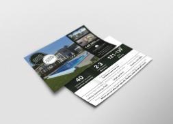 Diseño de flyer para proyecto inmobiliario en el Caribe
