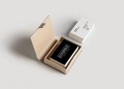 Diseño de tarjetas para centro de belleza unisex
