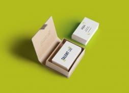 Diseño de tarjetas de visita para consultoría en recursos humanos