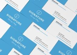 Diseño de tarjetas de visita para empresa dedicada a las finanzas