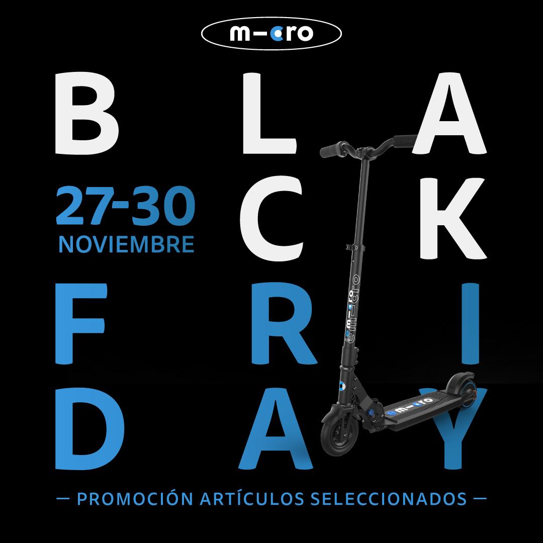 diseño publicidad black friday patinete