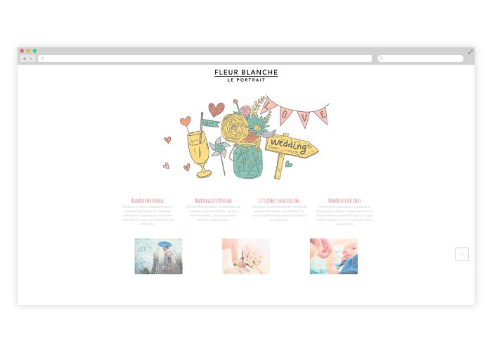 Diseño de un blog para una fotógrafa de Mataró (Barcelona) que basa su trabajo en la fotografía de moda, social y comercial