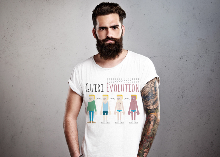 Diseño de camisetas con ilustraciones humorísticas