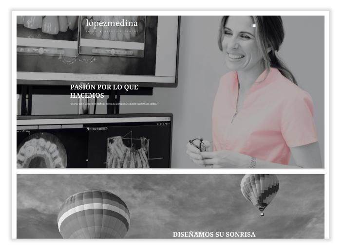 Captura de pantalla de la web Lopez Medina