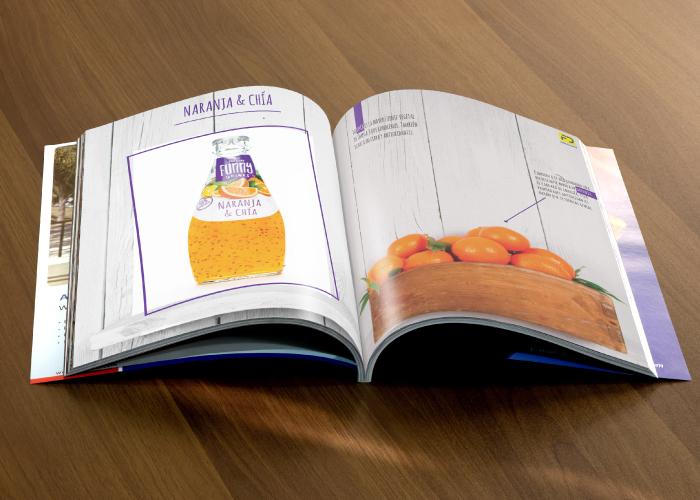 Diseño de dossier para una empresa de distribución de bebidas y alimentos