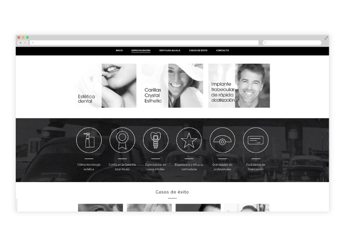 Diseño web clinica dental