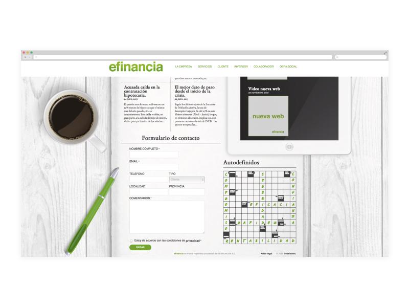 Diseño web de una empresa financiera