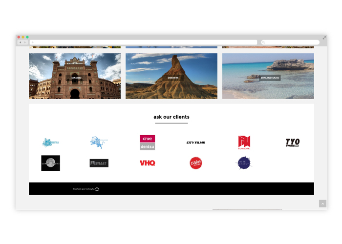 Diseño web para productora audiovisual